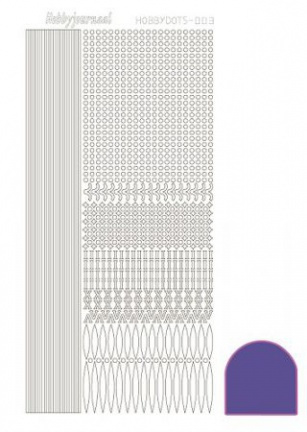 Hobbydots sticker Mirror Purple 003 STDM039