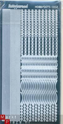 Hobby dots sticker mirror zilver 002 STDM028