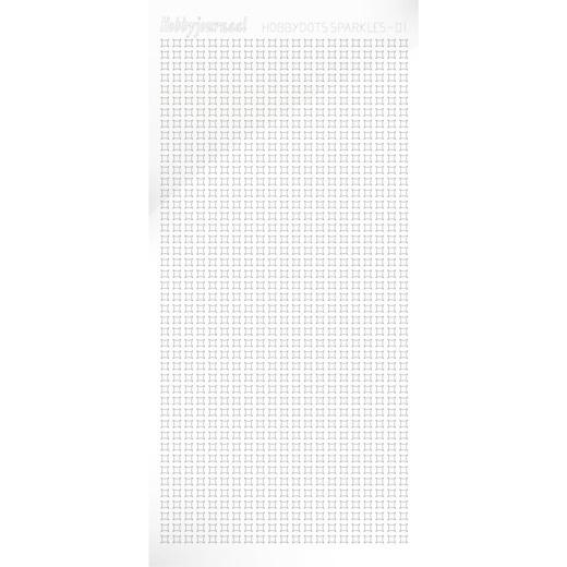 Hobbydots sticker Sparkles 01 Adhesive White HSPA010