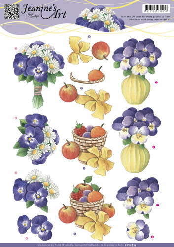 3D knipvel Jeanine's - Spring flowers 3 CD10853