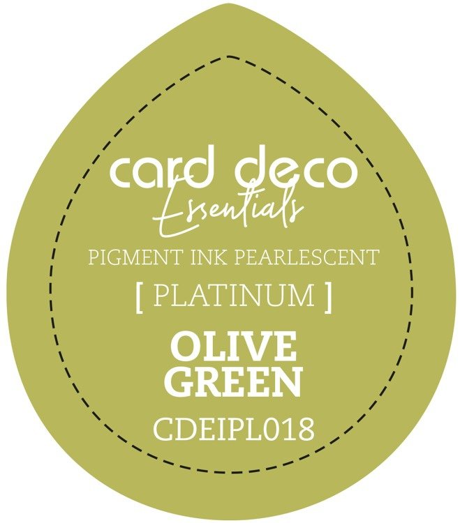 Card Deco Essentials Fast-Drying Pigment Ink Pearlescent Olive Green CDEIPL018
