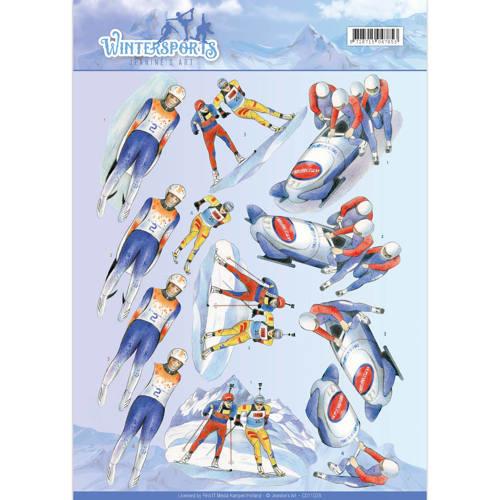 3D Knipvel - Jeanine's Art - Wintersports - Biathlon CD11028