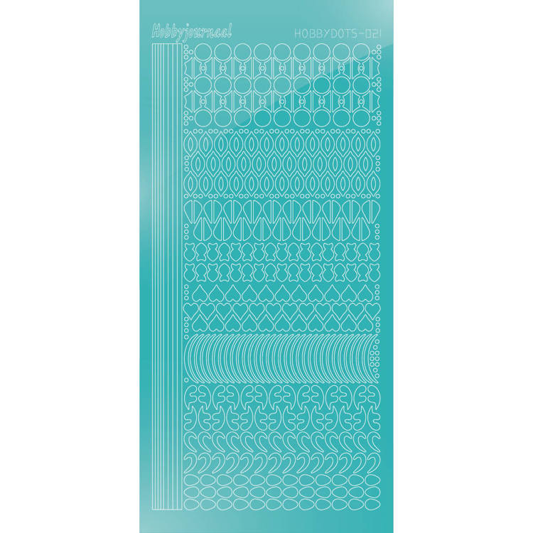Hobbydots sticker - Mirror - Emerald 021 STDM21I