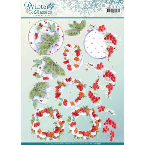 3D Knipvel - Jeanine's Art - winter classics- Winterberries CD10970