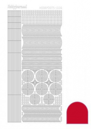Hobbydots sticker mirror red 006 STDM064