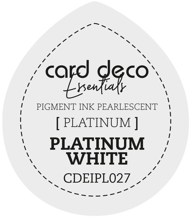 Card Deco Essentials Fast-Drying Pigment Ink Pearlescent Platinum White CDEIPL027