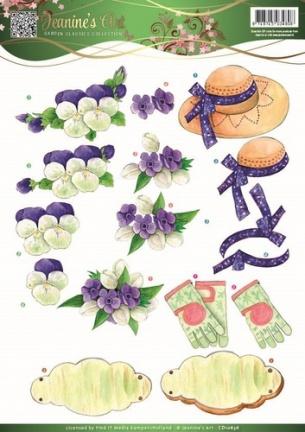 3D Knipvel - Jeanines Art - Garden Classics - Purple Flowers CD10836