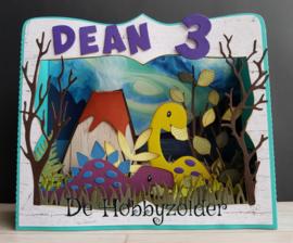 Dino kaart voor Dean