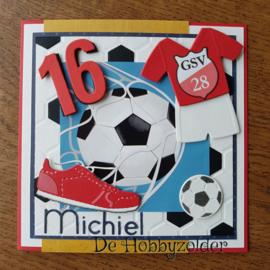 Sportieve voetbal kaart