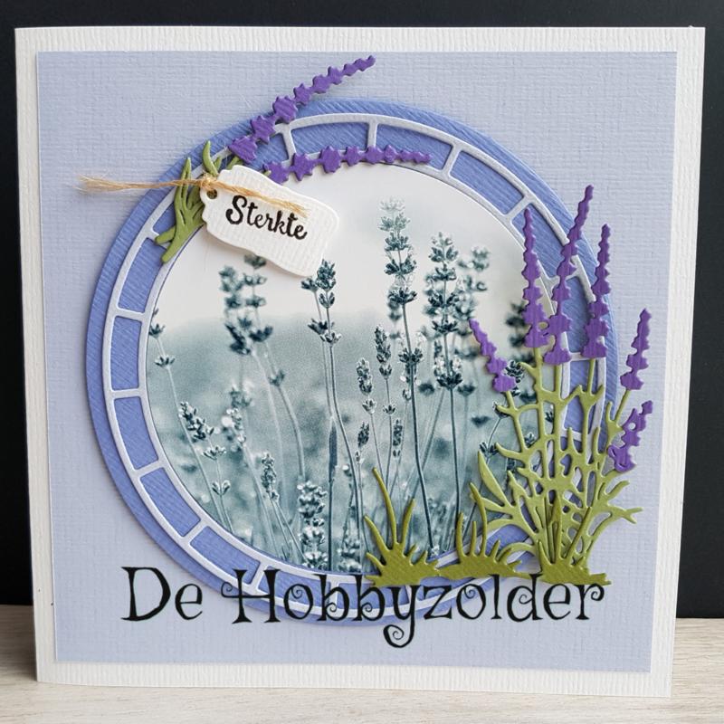 Rouwkaart met Lavendel