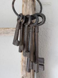 Stoere ijzeren sleutels aan ring