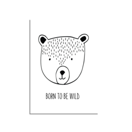 DESIGN CLAUD | Poster 'Born to be Wild' A4