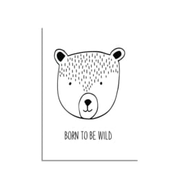 DESIGN CLAUD POSTER 'BORN TO BE WILD' A4