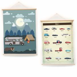 LITTLE & PURE | Praatplaat - schoolplaat auto's