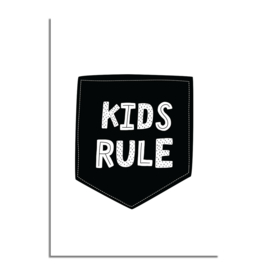 DESIGN CLAUD | Poster Kids Rule A4