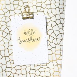 MIEK IN VORM | Kaart hello sunshine