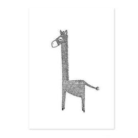 MIJKSJE | Poster giraf - A4