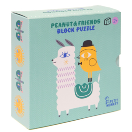 PETIT MONKEY BLOKPUZZEL PEANUT & FRIENDS
