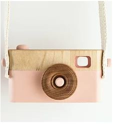 CRAFFOX | Wooden camera roze