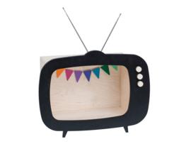 UP! WARSAW | Wandkast tv zwart - groot