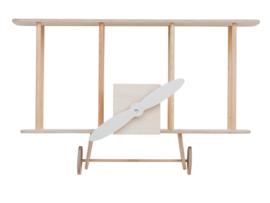 UP!WARSAW | Wandkast vliegtuig blank hout