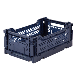 AYKASA FOLDING CRATE | Mini box Navy