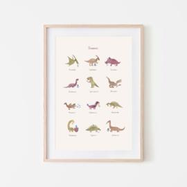 MUSHIE | Poster Dinosaurus 50x70 cm