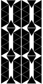 PÖM LE BONHOMME | Muurstickers triangel zwart