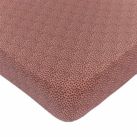 MIES & CO BABYLIFESTYLE | ledikant hoeslaken 60 x 120 - cozy dots rosewood
