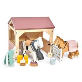 TENDER LEAF TOYS | Huisdierenset stal met pony's