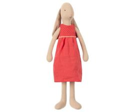 MAILEG | Konijn jurk rood (size 3)