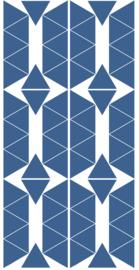 PÖM LE BONHOMME | Muurstickers triangel blauw