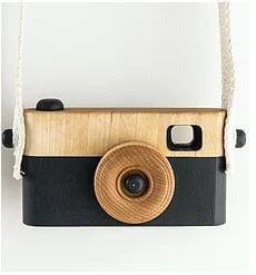 CRAFFOX WOODEN CAMERA ZWART