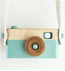 CRAFFOX WOODEN CAMERA BLAUW