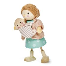 TENDER LEAF TOYS | Poppenhuis popje mevrouw Goodwood & baby