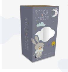 PICCA LOULOU | Knuffel konijn grijs