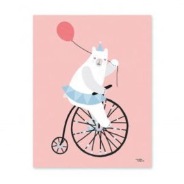 MICHELLE CARLSLUND POSTER CYCLING BEAR