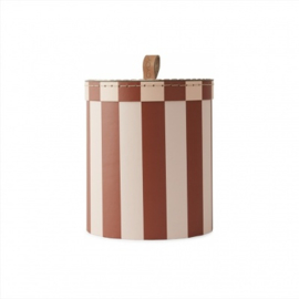 OYOY MINI | Opbergdoos roestbruin roze gestreept - small