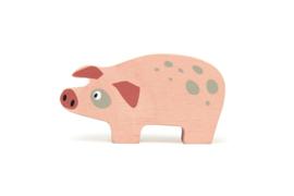 TENDER LEAF TOYS | Houten boerderijdier varken