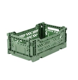 AYKASA FOLDING CRATE | Opvouwbaar kratje mini almond green