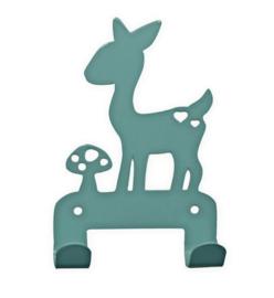 EINA DESIGN | Wandhaakje hert blauw