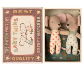 MAILEG | Baby tweeling muisjes in luciferdoosje