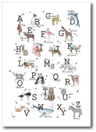 HOUSE OF POSTCARDS | Dierenposter ABC