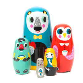 PETIT MONKEY NESTING DOLLS IN THE WOOD