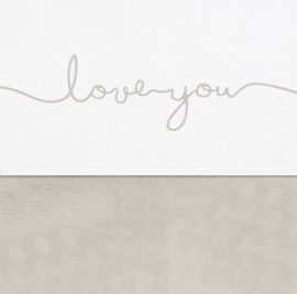 JOLLEIN | Ledikant laken - love you - Nougat