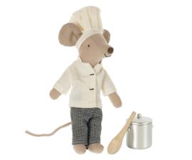 MAILEG   Muis kok met pan en soeplepel (2021)