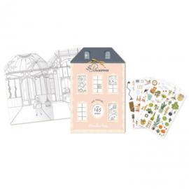 MOULIN ROTY | Kleurboek met 145 stickers - Les Parisiennes