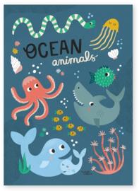 MICHELLE CARLSLUND | Poster Ocean animals