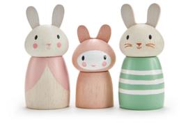 TENDER LEAF TOYS | Houten popjes konijnenfamilie