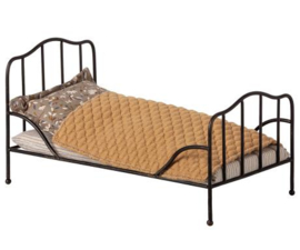 MAILEG METALEN VINTAGE BED ANTRACIET MINI